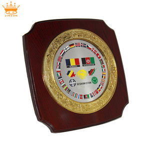 Wholesale wooden wall shield plaque new type custom high quality box design sample wooden plaque with box plaque wood