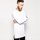 new style Germany hip hop o neck long sleeve longline t shirt