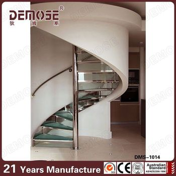 Cheap Stainless Steel Handrail For Stairs Indian/ Indoor Spiral Basement  Stairs
