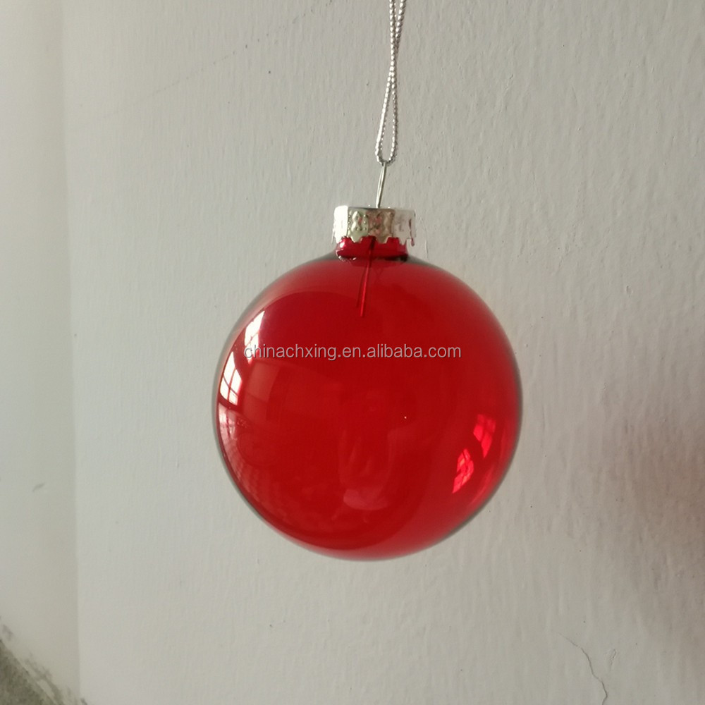Clear red color hanging glass ball candle holder buy