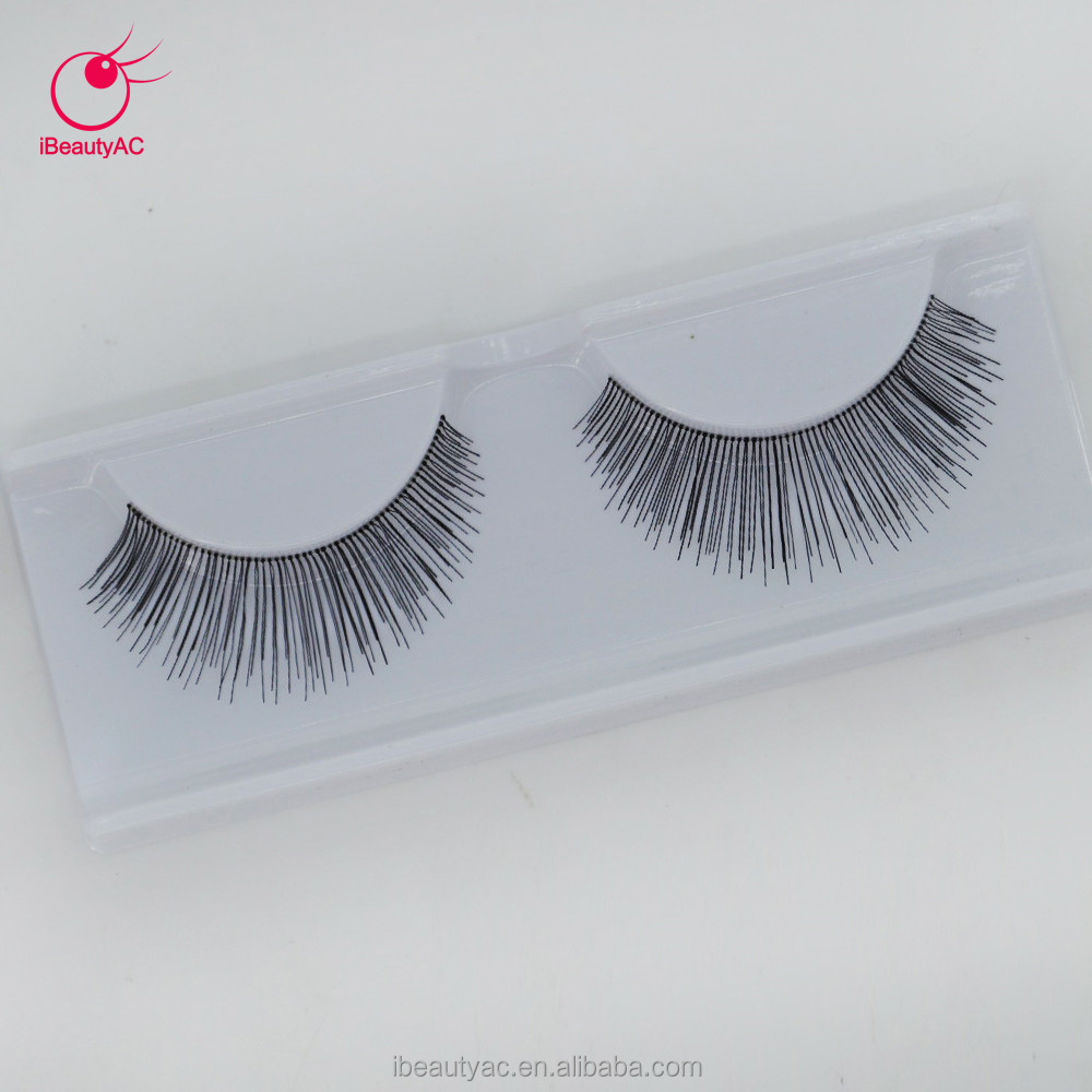Factory Price False Eyelashes Human Hair Lifelike Human Hair Lashes