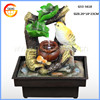 Resin crafts water fountain with shrub pot and bird polyresin sculpture