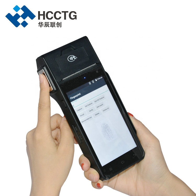 Wifi 4G 3G Handheld Android Touch Screen POS Machine With Printer HCC-Z90