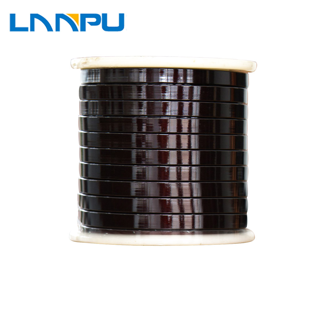 High Quality 200 Degree <strong>Flat</strong> Enameled Copper Wire for Transformer Winding