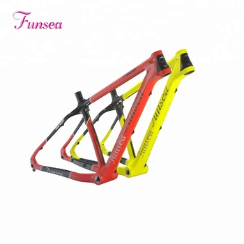 Funsea manufacturer professional custom Painting/decal 16/18 inch T700 chinese snow fatbike bicycle frame carbon fat bike frame