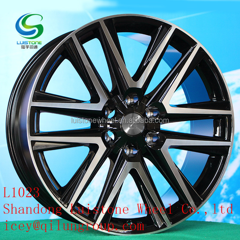 20inch Luistone factory new design excellent alloy replica wheels rims for Toyota car L1023