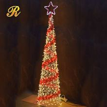 Mini light up spiral christmas tree for outdoor decoration