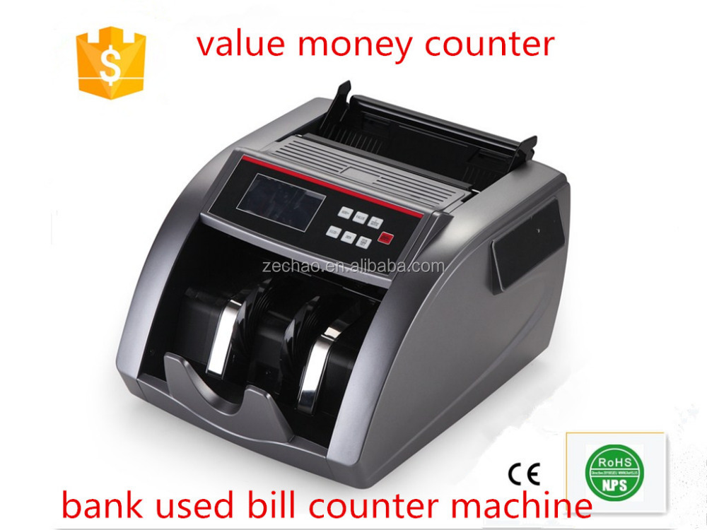 2016 newly bill counter value machine with high quality fashional design cash register intelligent bill counter