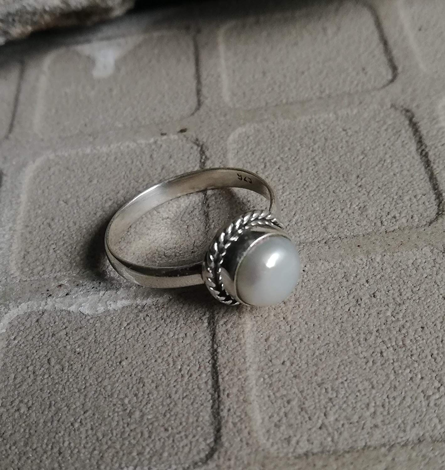 Pearl Ring, 925 Sterling Silver, Minimalist Ring, One Of A Kind, Ocean Ring, Ethnic Ring, Fresh Water Pearl Ring, Love Ring, Attractive Ring, Dainty Ring, Natural Ring, Great Gift, US All Size Ring
