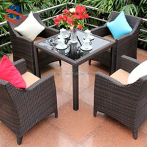 Outdoor Garden China Manufacturer Cheap Wicker Rattan Chairs Set