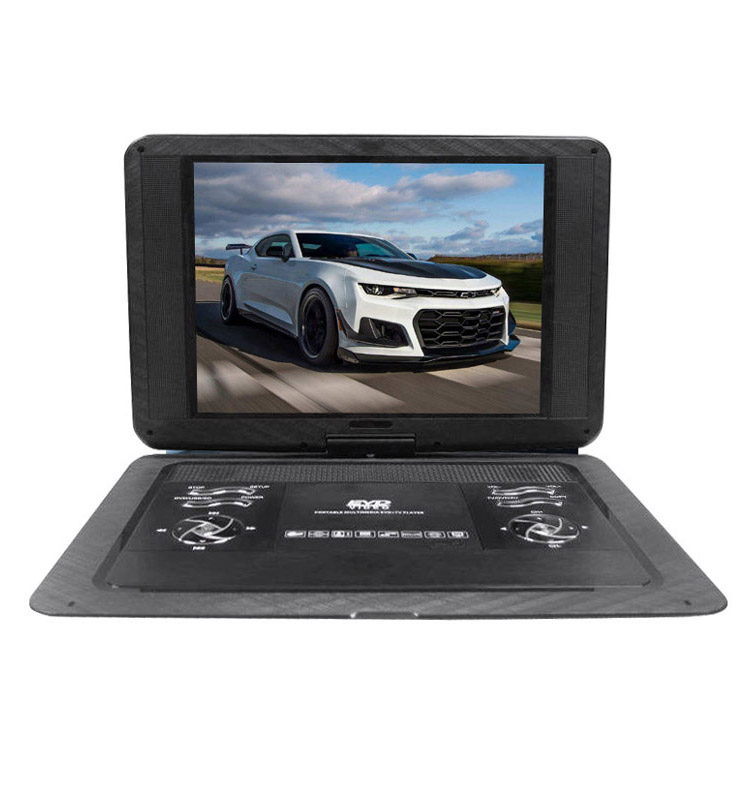 TNT328 15 Inch Portable Dvd Player With Dvb-t/t2 Tuner Usb Port Sd Port Av-in/out Game 3d And Glass