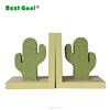 Custom creative modern art natural wooden bookends