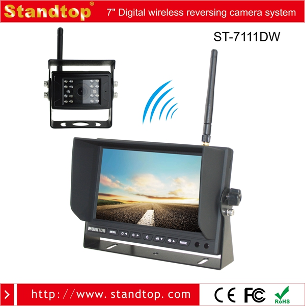 DC12V-24V 7 inch Wireless Truck Crane Camera System with one pcs Wireless IP69 camera