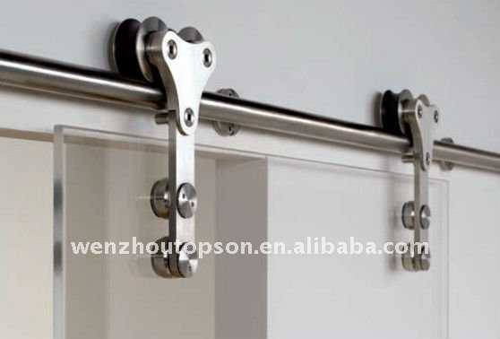 Stainless Steel Glass Sliding Barn Door Closet Hardware Set   Buy Barn Door  Hardware,Glass Barn Door,Glass Sliding Door Product On Alibaba.com