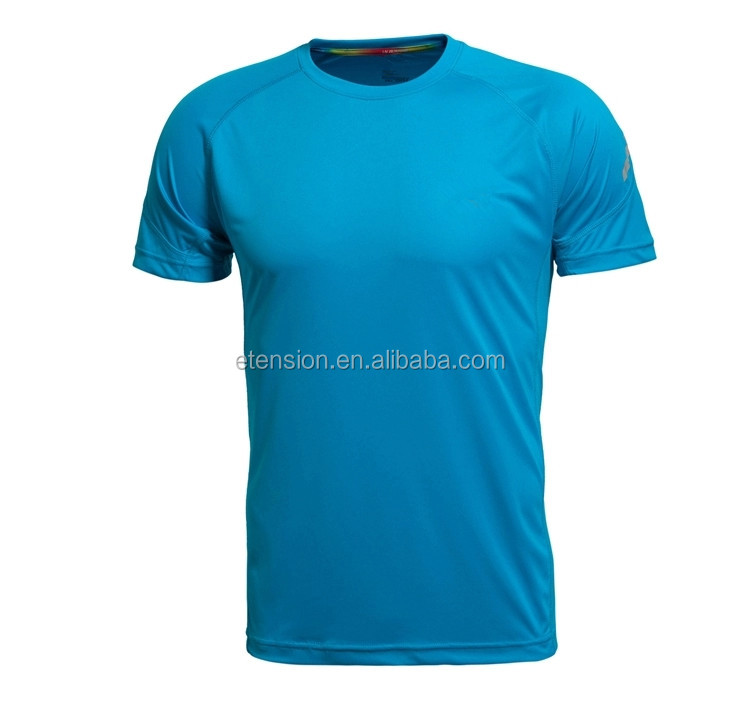 OEM customized logo 100% Polyester sport dry fit men blank t shirt wholesale