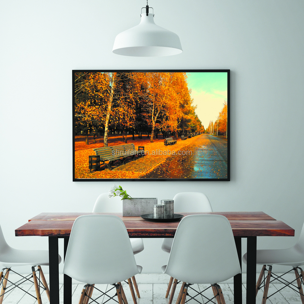 autumn leaves nature scenery printing home decor painting