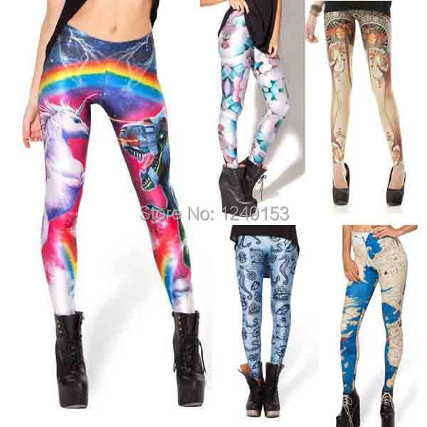 f5f49f77913c1 Buy Fashion Sexy Women's Leggings Unicorn Pirate La Trappistine Digital  Printed Stretchy Skinny Pencil Pants Gym Funky in Cheap Price on  m.alibaba.com
