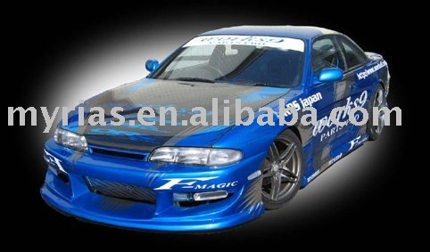 High Quality Nissan Silvia S14 (94~96) W Style Body Kit