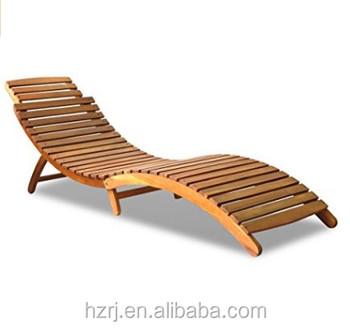 Folding Wood Beach Lounge Chair