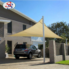 pe beige car parking shade sail