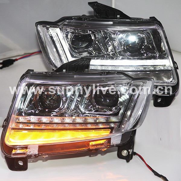 2011 2015 year for jeep compass led headlights assembly. Black Bedroom Furniture Sets. Home Design Ideas