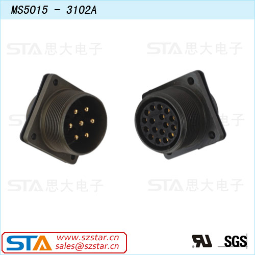 military 5015 series straight connector-servo motor Amphenol waterproof connector