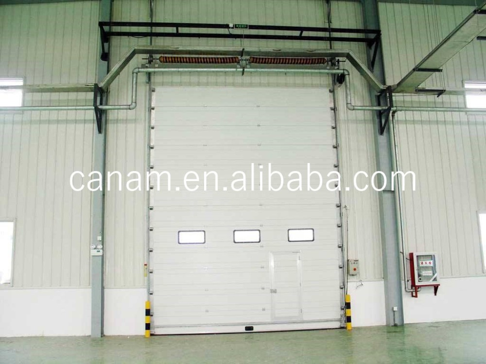 Automatic Electric Motorized Industrial Thermal Insulated Overhead Sectional Warehouse Garage Door