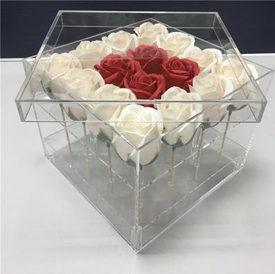 High Grade Transparent Acrylic Flower Box Made Transparent