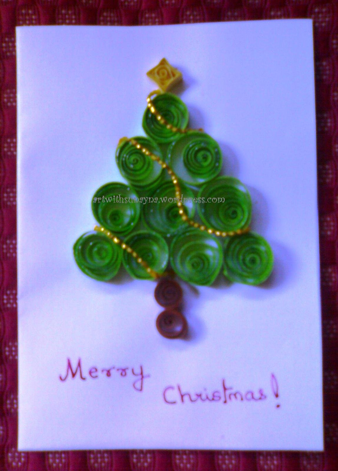 Christmas Paper Quilled Greeting Card Buy Christmas Greeting