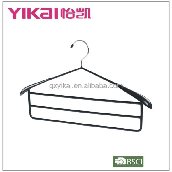 2015 new product space saving coat/trousers/pants clothes hanger with big shoulder