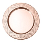 "Gold 13"" Stainless Steel Wedding Charger Plate For Middle East Market"
