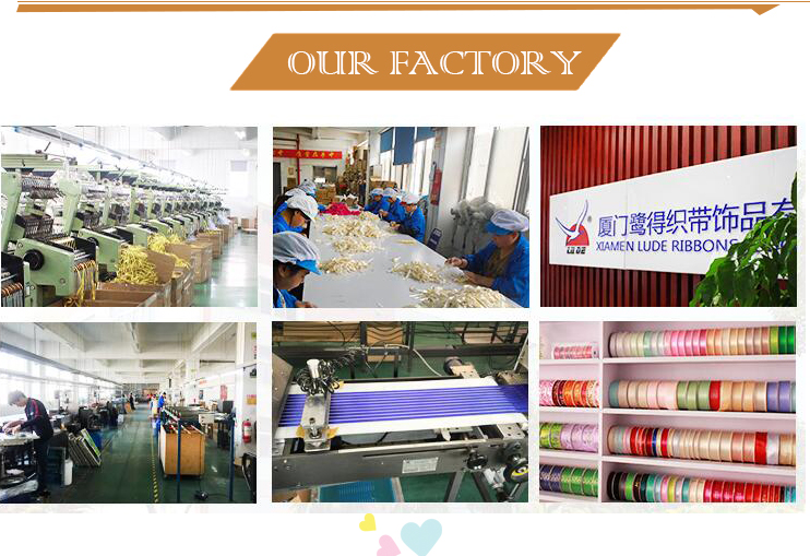 Factory OEM polyester custom grosgrain satin printed LOGO ribbon