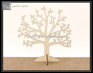Wood Earning holder wooden Jewelry Tree