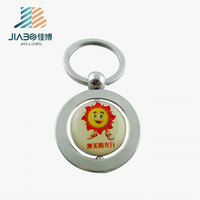 custom rotating keychain print with epoxy with cute emoji image