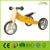 Wholesale Kids 2-in-1 Wooden Balance bike and tricycle for Baby