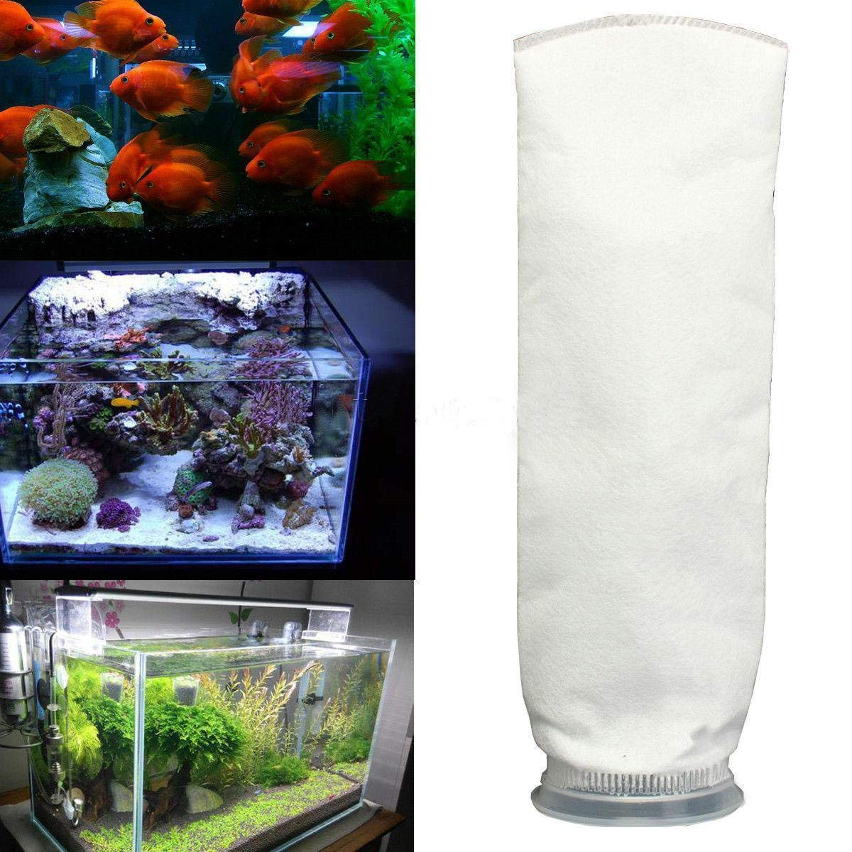 gloednApple Aquarium Reef Fish Tank Filter Sock Bag Holder Suck Replacement Sump 150/200 Micron