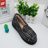 New style ladies shoes design print slipper shoes