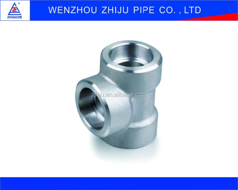 NPS 2 Inch Tee Socket Weld Gas Pipe Compression Fittings