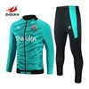 Custom high quality womens tracksuits Best price men green and marine blue joggers track suit