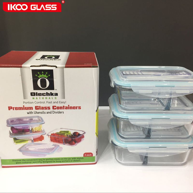 Bento Lunch Box 2 Compartments For Kids Adults Leakproof