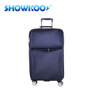 Cheap big factory 1000D nylon polyester fabric travel bag business suitcase carry on 4 wheels two side cheap soft luggage sets