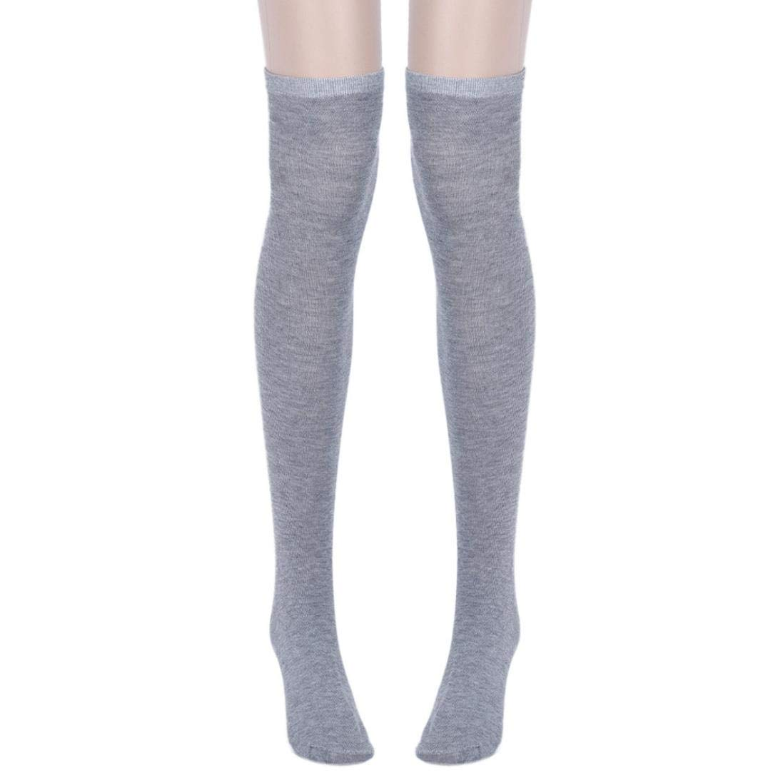 7c5a9b87eaf Get Quotations · Appoi Women Tube Dresses Over the Knee Thigh High  Stockings Cosplay Socks (Gray)