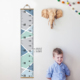 FUNLIFE Blue Wave Growth Chart for Kids Canvas Removable Magnetic Hanger Height Ruler for Living Room Children's Room HR009