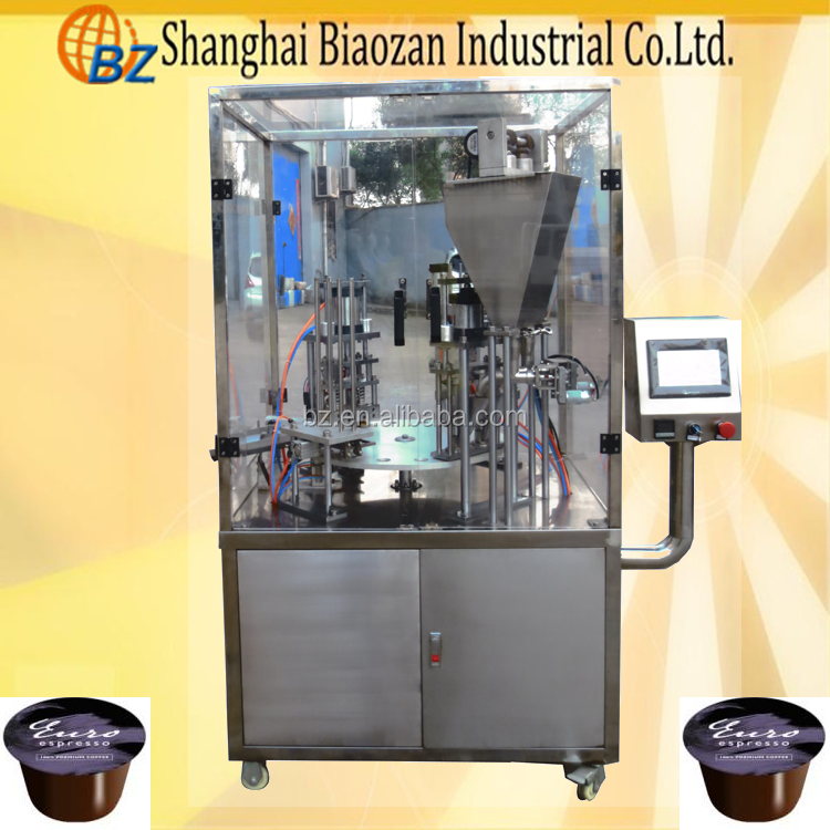 shanghai coffee capsule weigh and fill machine for Kcup, nespresso, Lavazza