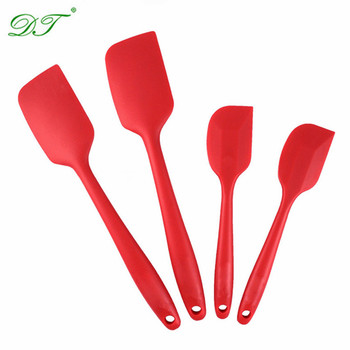 Custom Logo Silicone Spatulas set of 4 pcs ,Heat-resistant Flexible Silicone Spatulas