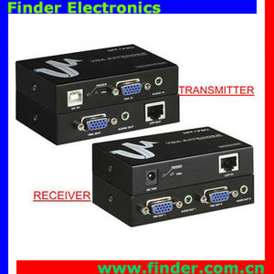high quality 300m VGA Extender with image clarity and brightness adjustable