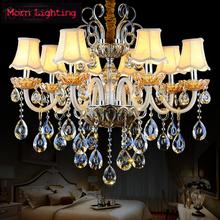 Luxurious Crystal Pendant Lamp The European Style Living Room Lamps And Lanterns Creative Bedroom crystal chandelier