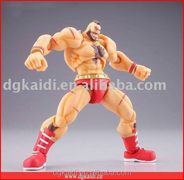High quality realistic Eco-friendly plastic pvc muscle wrestling action figure toy
