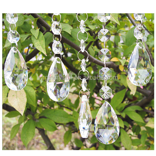 Attractive home decoration wedding favours crystal acrylic beads window curtain
