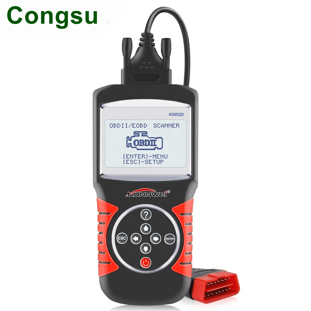 Congsu KONNWEI KW820 Automotive Scanner Multi-lingue OBDII EOBD Strumento di Diagnostica Errori di Auto Lettore di Codice Diagnostico Scanner in